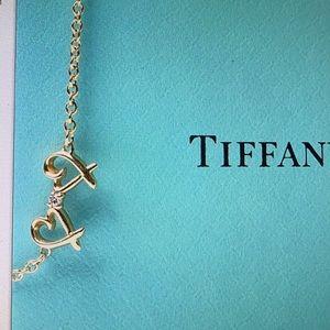 TIFFANY&Co 💯Authentic 18K Diamond Heart Bracelet